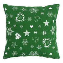 Vianočná obliečka na vankúšik zelená, 40 x  40 cm