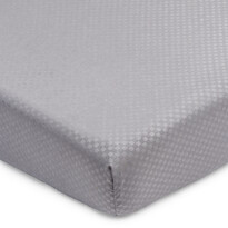 Prostěradlo Elisa mikrovlákno šedá, 90 x 200 cm