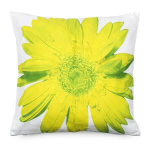 Povlak na polštářek zelený květ, 45 x 45 cm