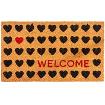 Kokosová rohožka Welcome Heart, 43 x 73 cm