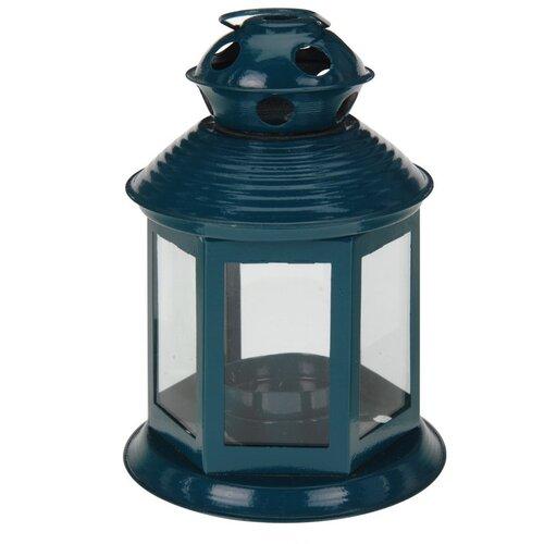 Koopman Lucerna na čajovou svíčku Colorido, tmavě modrá