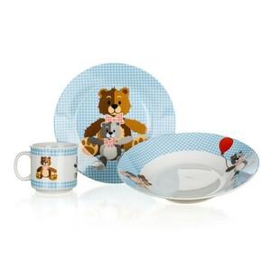 Banquet 3dílná dětská sada Medvídci, modrá