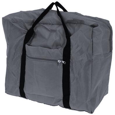 Koopman Skladacia cestovná taška sivá,  44 x 37 x 20 cm