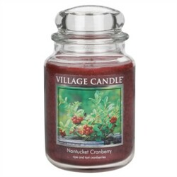 Village Candle Vonná svíčka ve skle, Brusinka - Nantucked Cranberry, 645 g