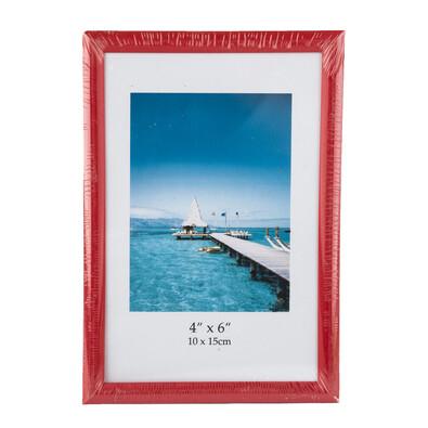 Fotorámeček 9 x 13 cm červený