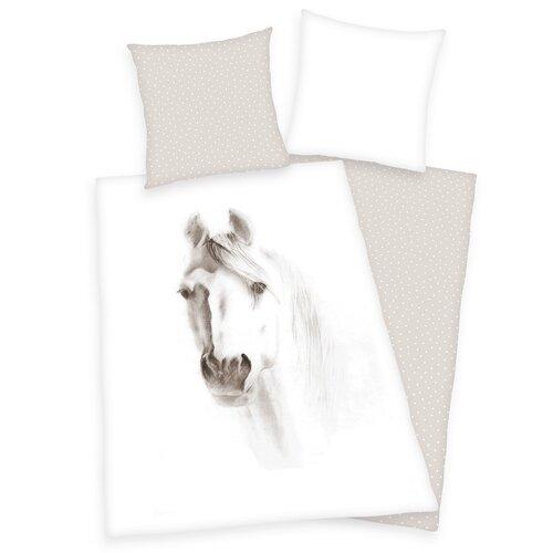 Bavlněné povlečení Kůň, 140 x 200 cm, 70 x 90 cm