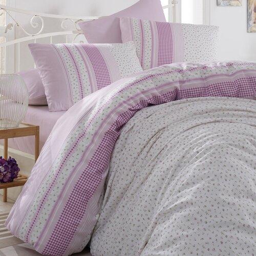 Bedtex povlečení bavlna Defne Lila, 220 x 200 cm, 2 ks 70 x 90 cm