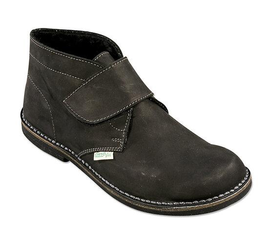 Orto Plus Pánská kotníčková obuv zateplená vel. 45 hnědá