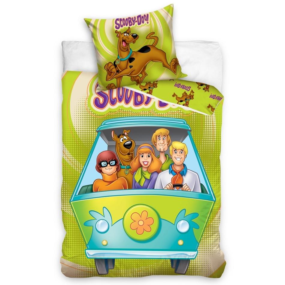 TipTrade Detské bavlnené obliečky Scooby Doo Na cestách, 140 x 200 cm, 70 x 90 cm