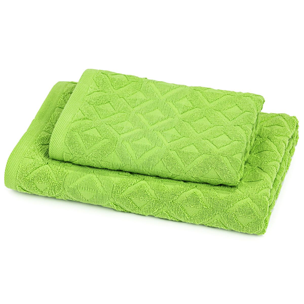 Trade Concept Sada Rio uterák a osuška zelená, 50 x 100 cm, 70 x 140 cm