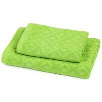 Zestaw Rio ręcznik i ręcznik kąpielowy zielony, 50 x 100 cm, 70 x 140 cm