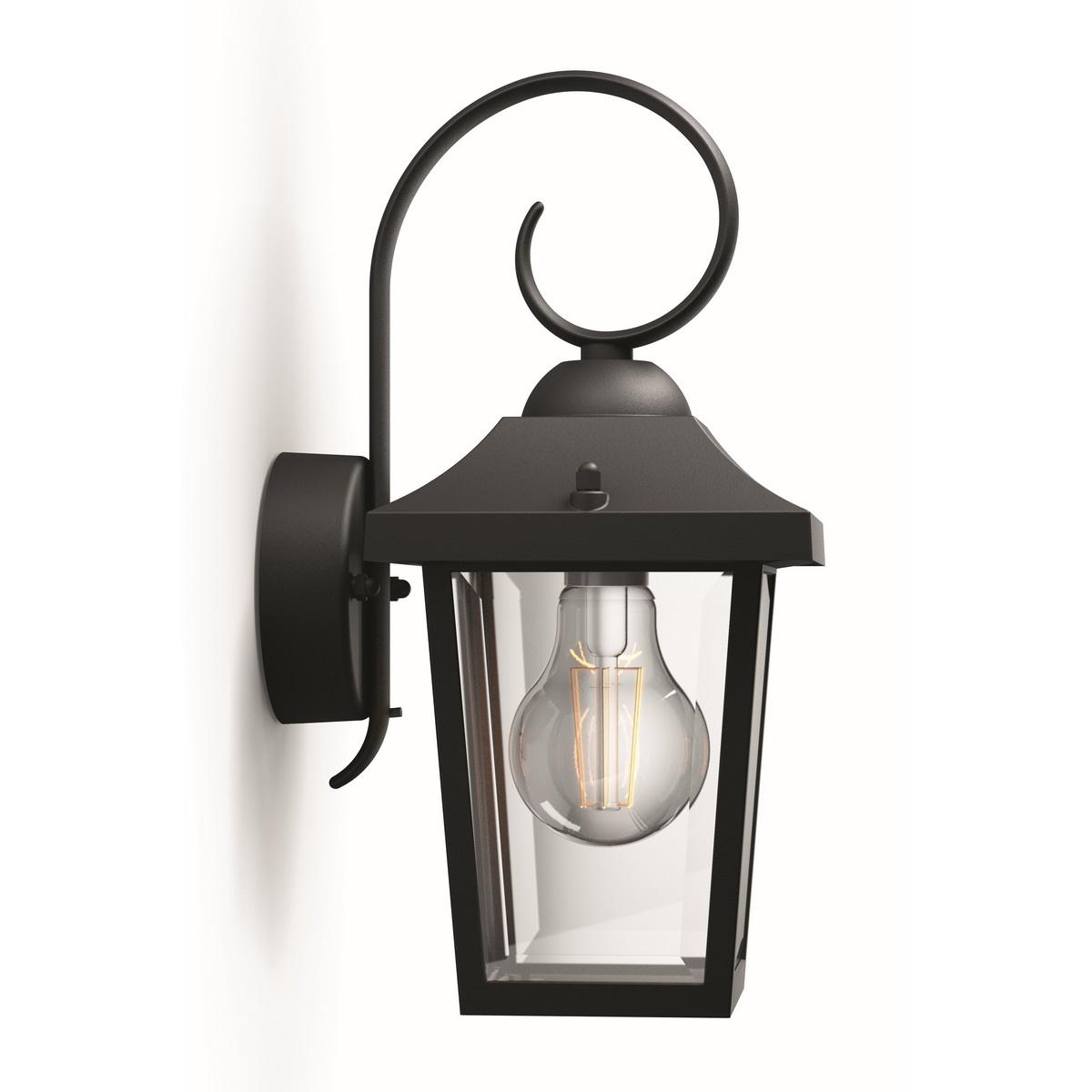 Philips 17236/30/PN Buzzard Venkovní nástěnné svítidlo 29 cm, černá