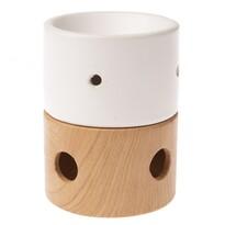 Ceramiczna lampa aromatyczna Alba brązowy, 9 x 11,5 x 9 cm