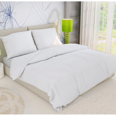 Lenjerie creponată 1 pers., albă, 140 x 200 cm, 70 x 90 cm