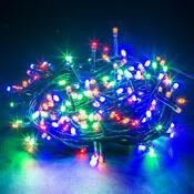 Vánoční světelný řetěz, 240 LED barevná
