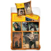 Bavlněné povlečení Animal Planet - Safari, 160 x 200 cm, 70 x 80 cm