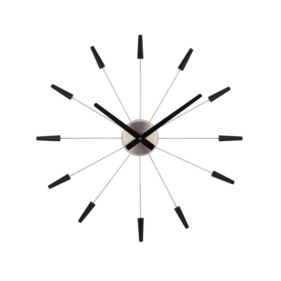 Ceas de perete negru Nextime Plug Inn 2610zw diam. 60 cm