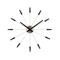 Ceas de perete negru, Nextime Plug Inn 2610zw, diam. 60 cm