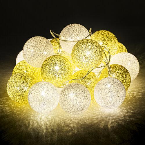 Redondo fényfüzér, fehér-arany, 20 LED-es, 3 m, meleg fehér