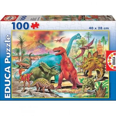 Puzzle Dinosauři, 100 dílků
