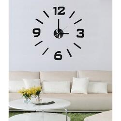 StarDeco Zegar ścienny czarny, śr. 50 cm