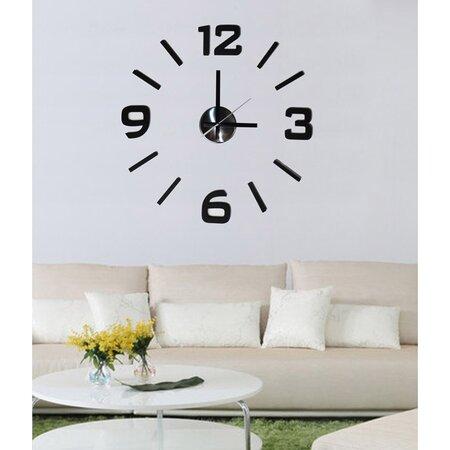 StarDeco Nástěnné hodiny černá, pr. 50 cm
