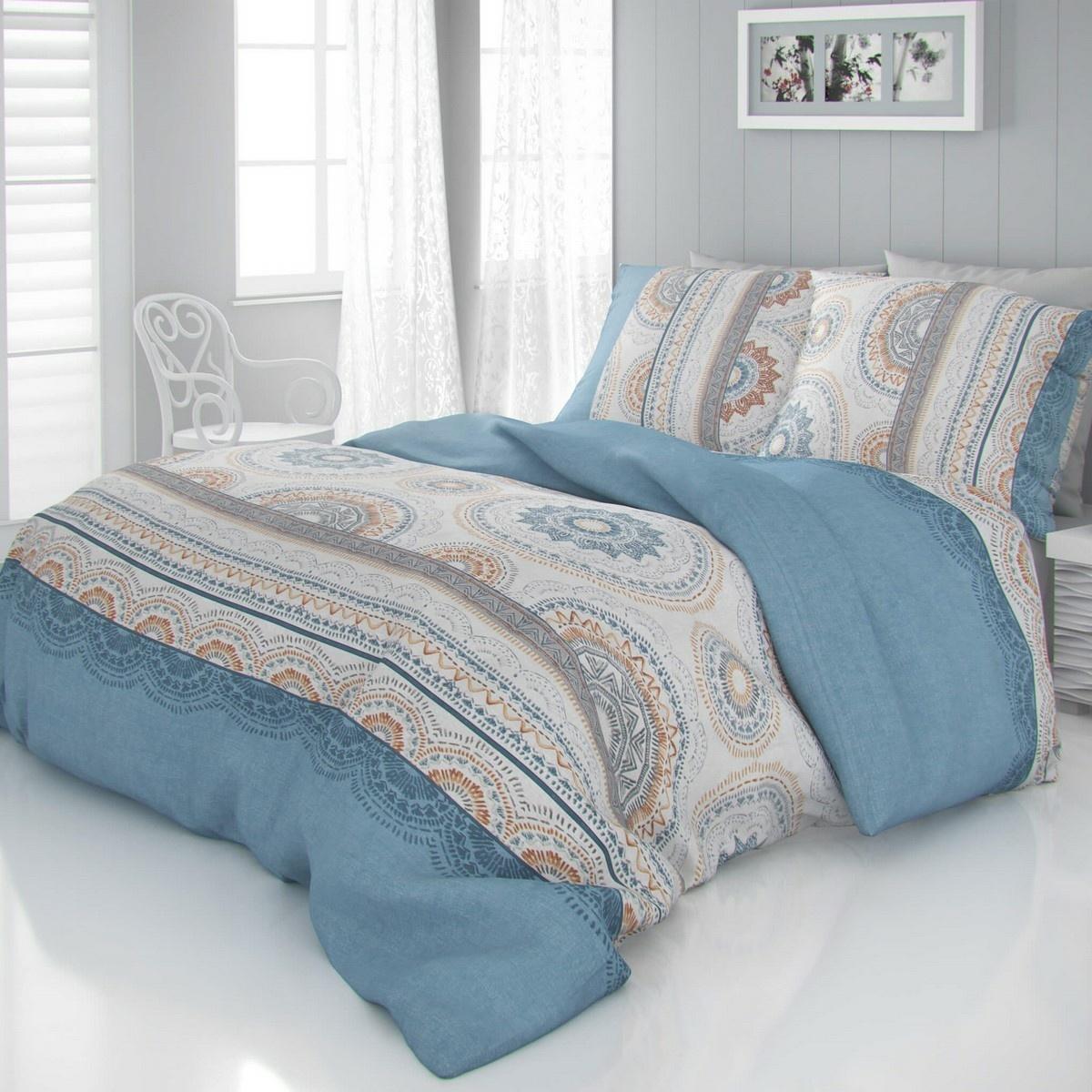 Kvalitex Saténové obliečky Luxury Collection Carmela modrá, 140 x 220 cm, 70 x 90 cm