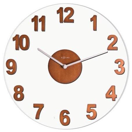 Nextime Woody Brown 2974br nástenné hodiny