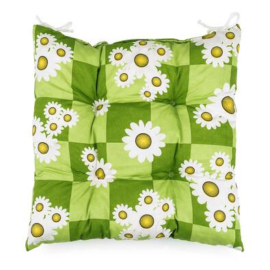 Sedák heřmánek zelená, 40 x 40 cm