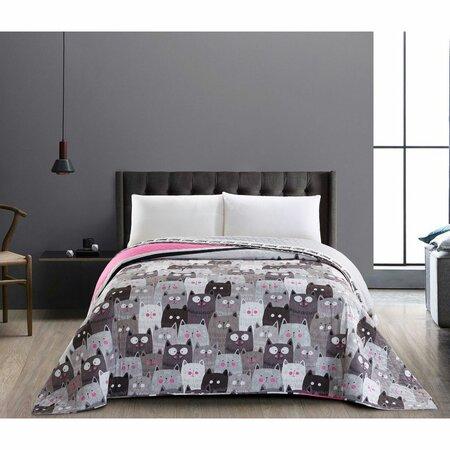 DecoKing Catinvasion ágytakaró, 220 x 240 cm