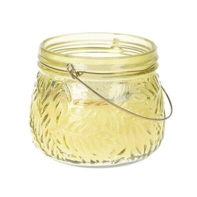 Svíčka ve skle Lame žlutá, 11 x 9 cm