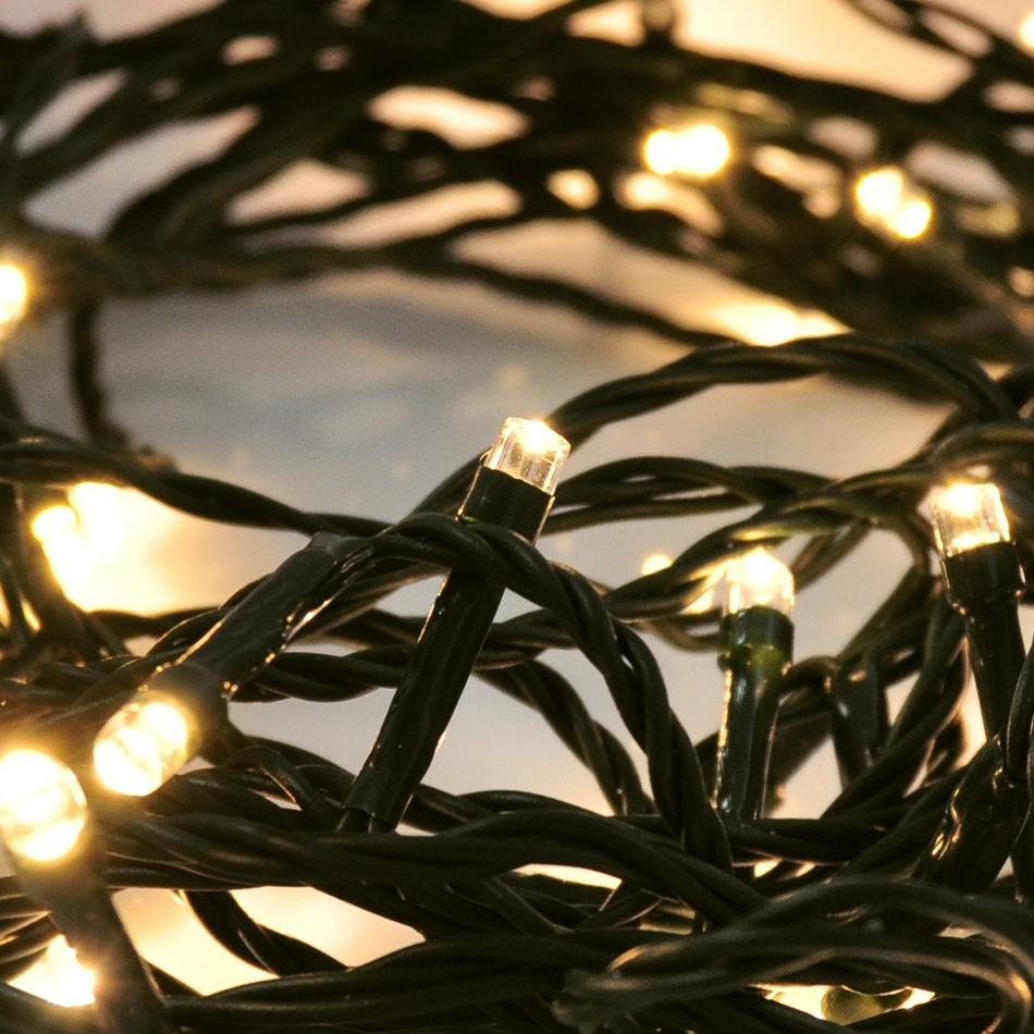 Vianočná LED řetěz vonkajšia, teplá biela 5 m