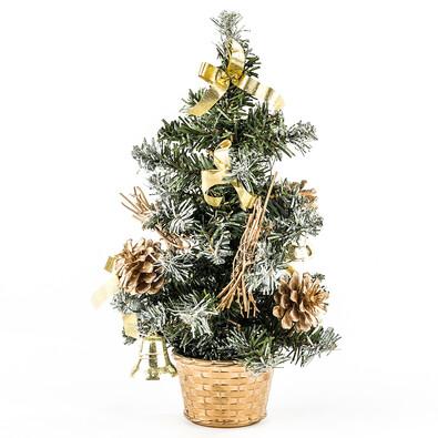 Vánoční stromeček dekorovaný zlatá 30 cm