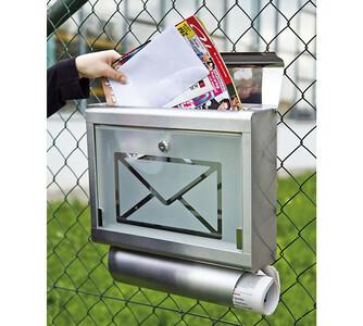 Poštovní schránka, stříbrná