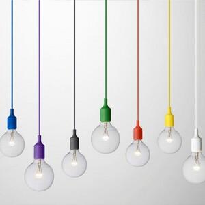 Závěsné svítidlo E27 fialové