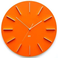 Ceas de perete design Future Time FT2010OR Round  orange, diametru 40 cm