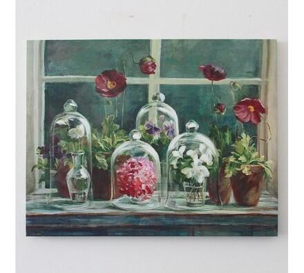 Obraz květiny na okně
