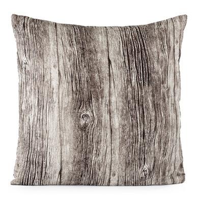 Polštářek Wood hnědá, 40 x 40 cm