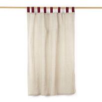 Zsákvászon függöny bordó, 140 x 160 cm