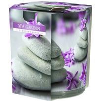 Lumânare parfumată în sticlă Spa garden, 100g, 7,8 cm