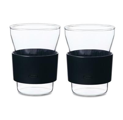 Šálek s podšálkem Taika 100 ml, červená, sada 2 ks