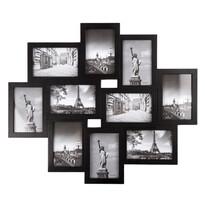 Fotorámček Sultan na 10 fotografií, čierna