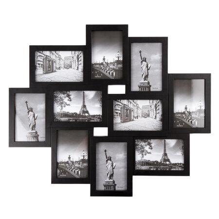 Sultan fényképkeret 10 fényképre fekete