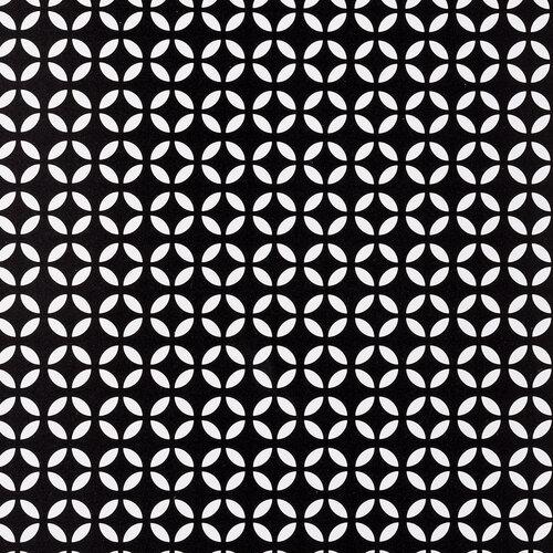 Prestieranie Ornament čierna, 28 x 43 cm, sada 4 ks