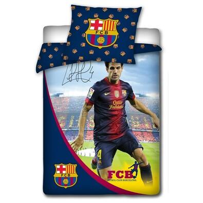 Bavlněné povlečení FCB Fabregas s podpisem, 140 x 200 cm, 70 x 80 cm