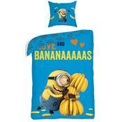 Dětské bavlněné povlečení Já padouch Mimoni bananas, 140 x 200 cm, 70 x 90 cm