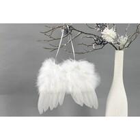 Sada vianočných ozdôb Anjelske krídla biela, 4 ks