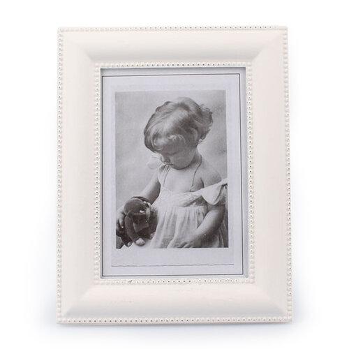 Drevený fotorámček Clasico, biela