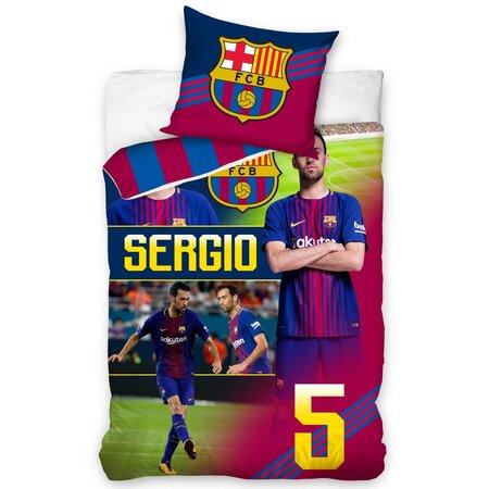 FC Barcelona Sergio pamut ágynemű, 140 x 200 cm, 70 x 80 cm