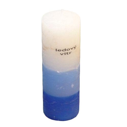 Trojfarebná sviečka s vôňou ľadový vietor